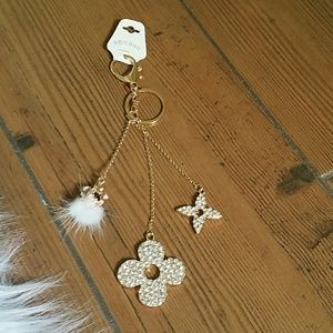 Beautiful sparkling bag charm